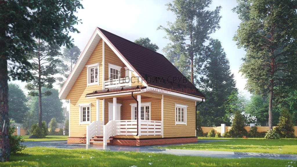 дом с балконом 7х7
